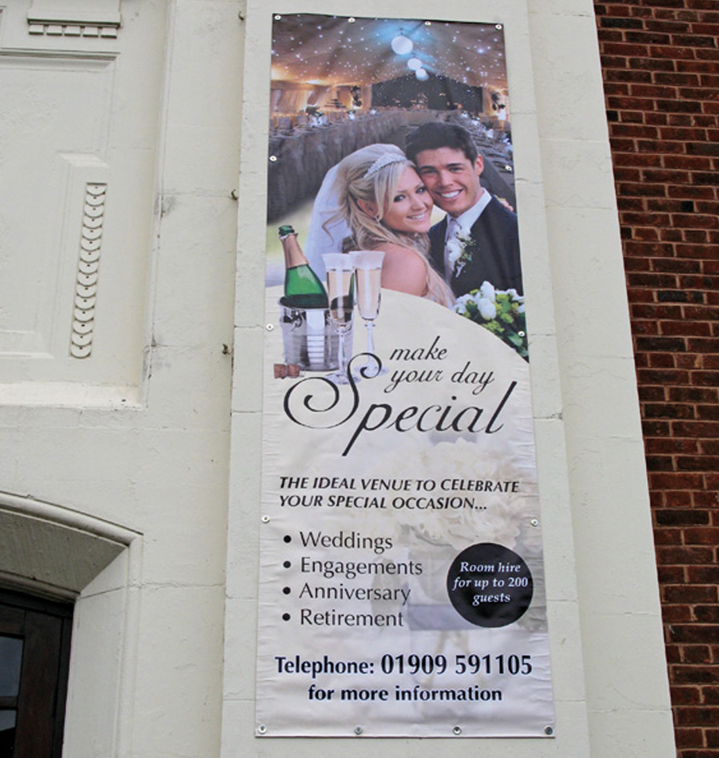 Banners with eyelets designed and printed any size or shape nr South Yorkshire