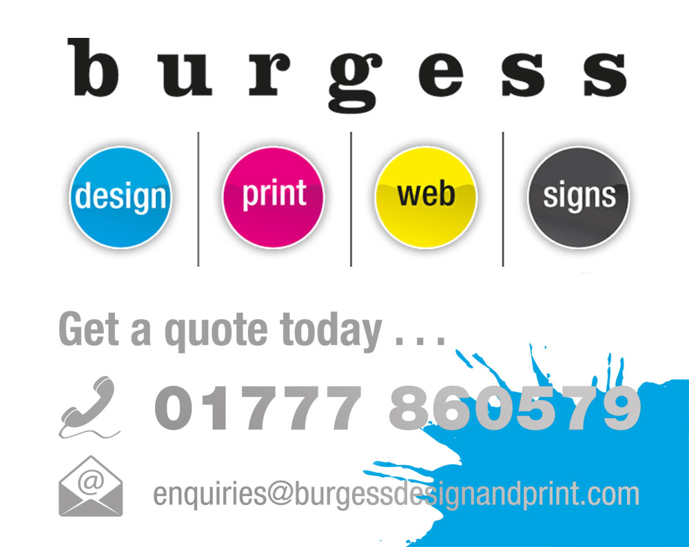Burgess Design and Print in Retford, Nottinghamshire. For all your Print, signage, websites, vehicle graphics, banners, design and more