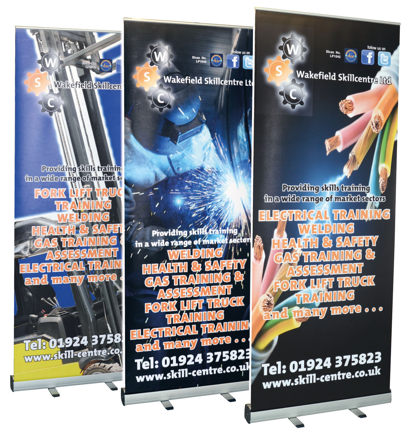 Pull up or pop up banners ideal for shows and fayres, trade stands etc. designed and manufactured nr Lincolnshire