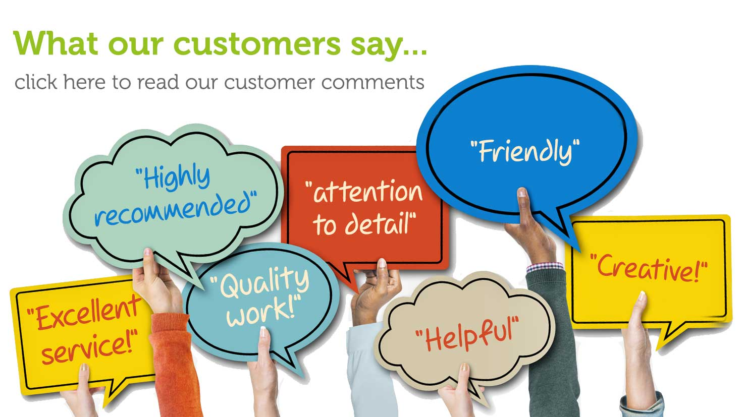 Click here to read our customer comments, reviews and testimonials on signs, print and websites in Retford