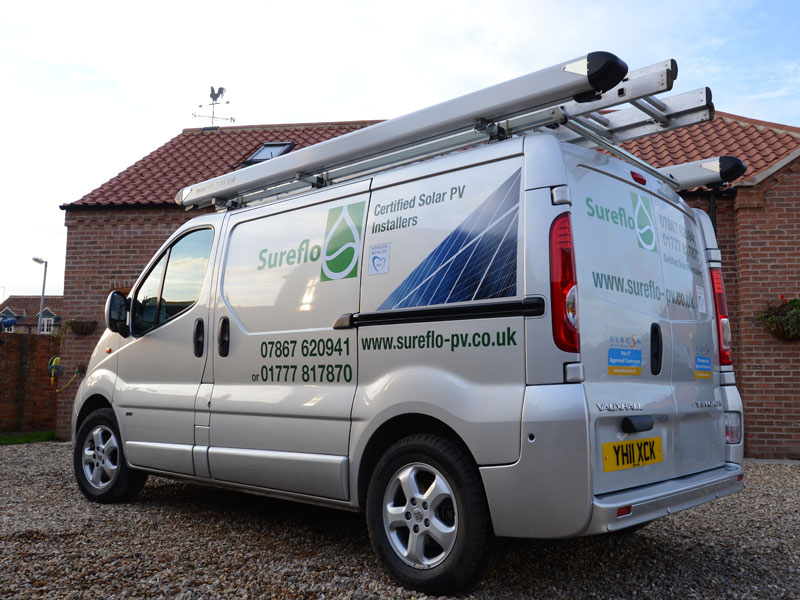 Vehicle advertising, van graphics produced in Retford
