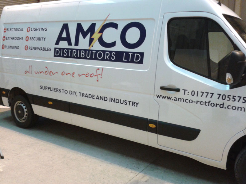 Van graphics designed and produced and fitted at Burgess Design and Print in Retford,Nottinghamshire
