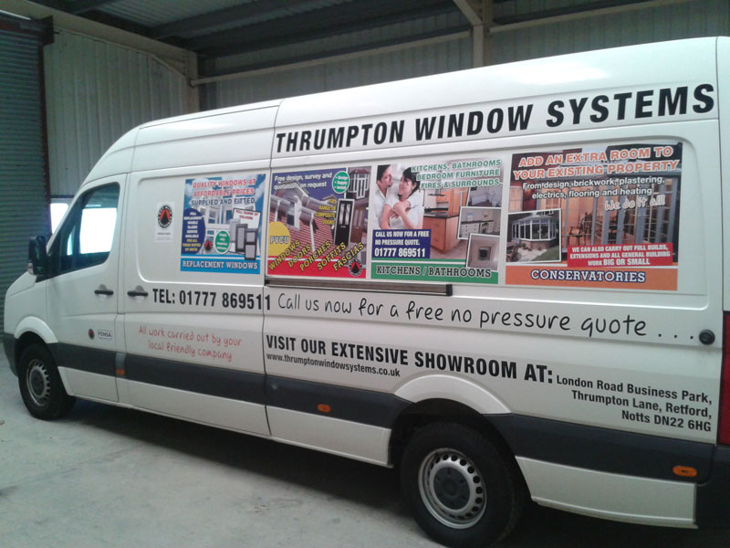 car graphics and van graphics designed and produced and fitted all under one roof in Retford