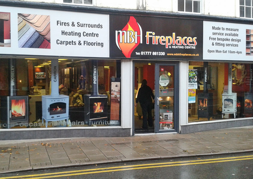 Window graphics for any type of business premises, shops, offices, restaurants, bars, frosted glass, frosted window stickers, cut out window stickers and more at Retford near Rotherham, Sheffield, Nottingham, Chesterfield